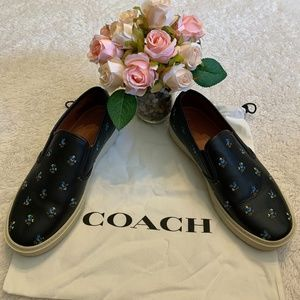 🌈☂️ Navy Blue Coach Loafers